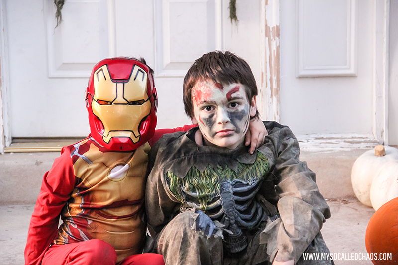 Iron Man and a Zombie