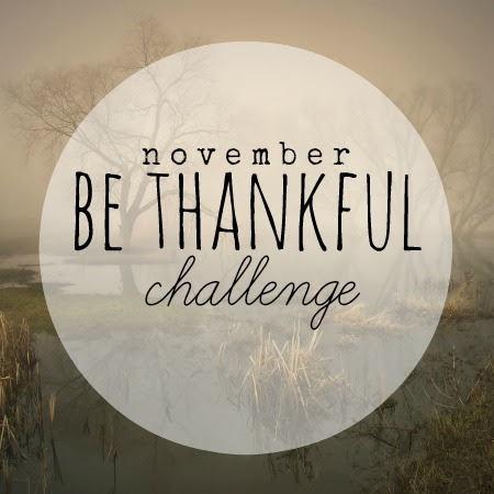 November's 12x30 Challenge: Be Thankful