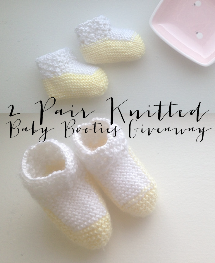 12 Days of Giveaways Day 12 | Knitted Baby Booties