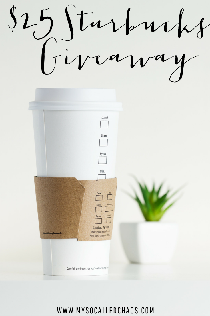 12 Days of Giveaways Day 2 | $25 Starbucks Gift Card