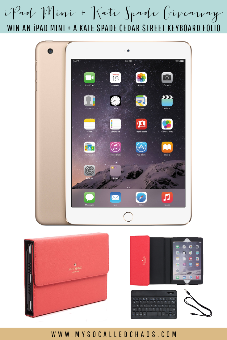Fit Chick's iPad Min + Kate Spade Giveaway