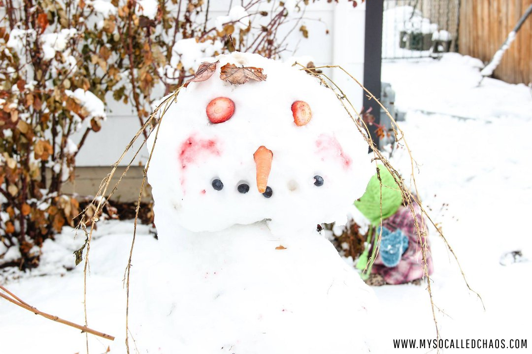 Scary snowman.