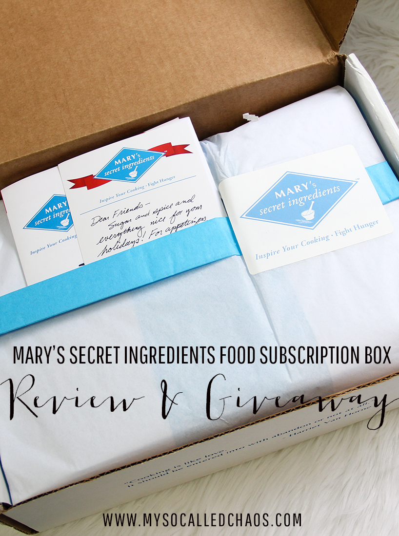 Mary's Secret Ingredients Review & Giveaway