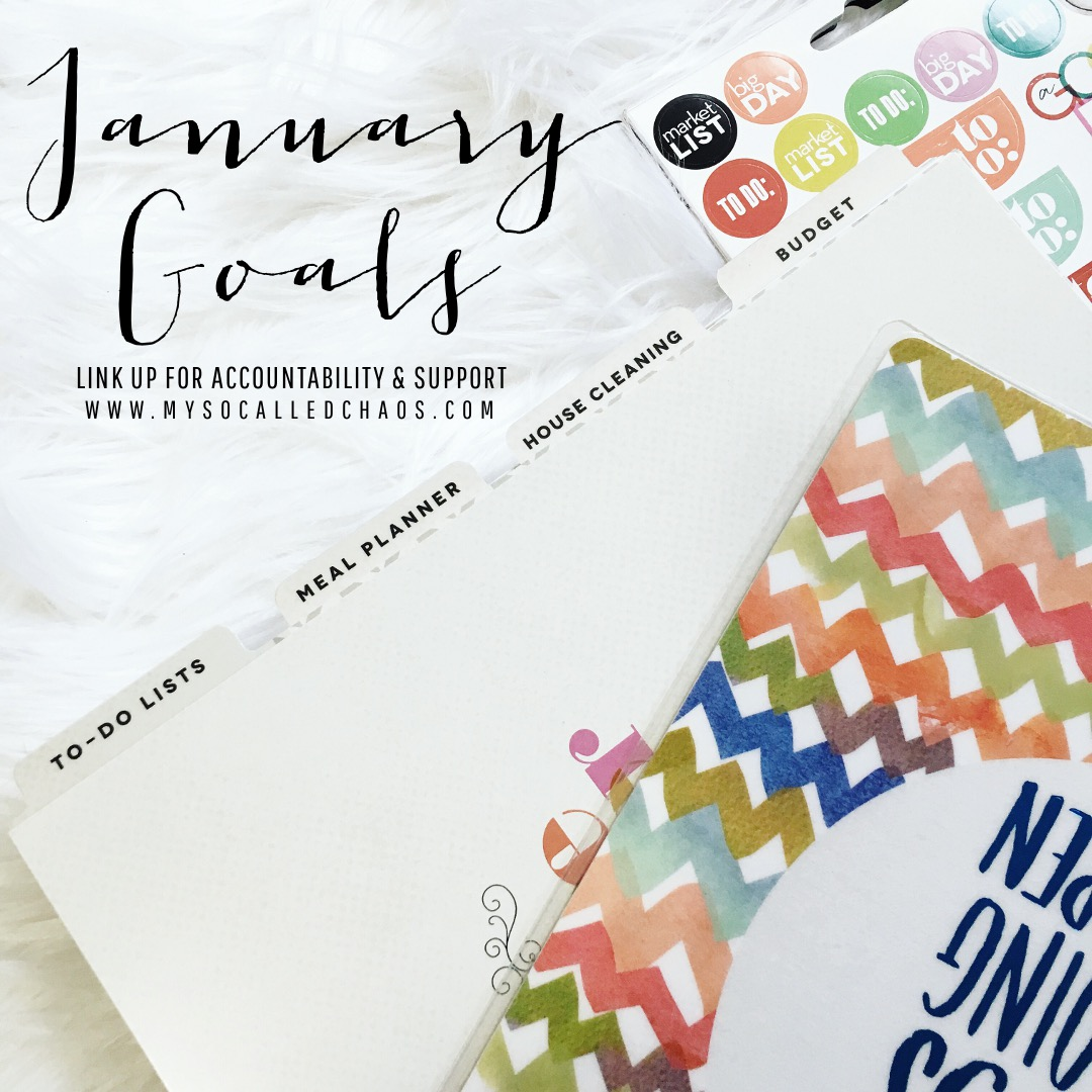 January Goals at My So-Called Chaos