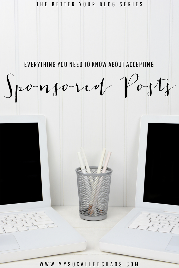 Everything you need to know about accepting sponsored posts. What works, what doesn't, and everything in between.