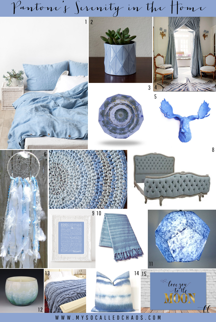 Handmade Home Decor in Pantone's Serenity