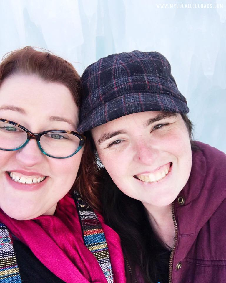 Kristina and I at the Ice Castles in Midway, Utah