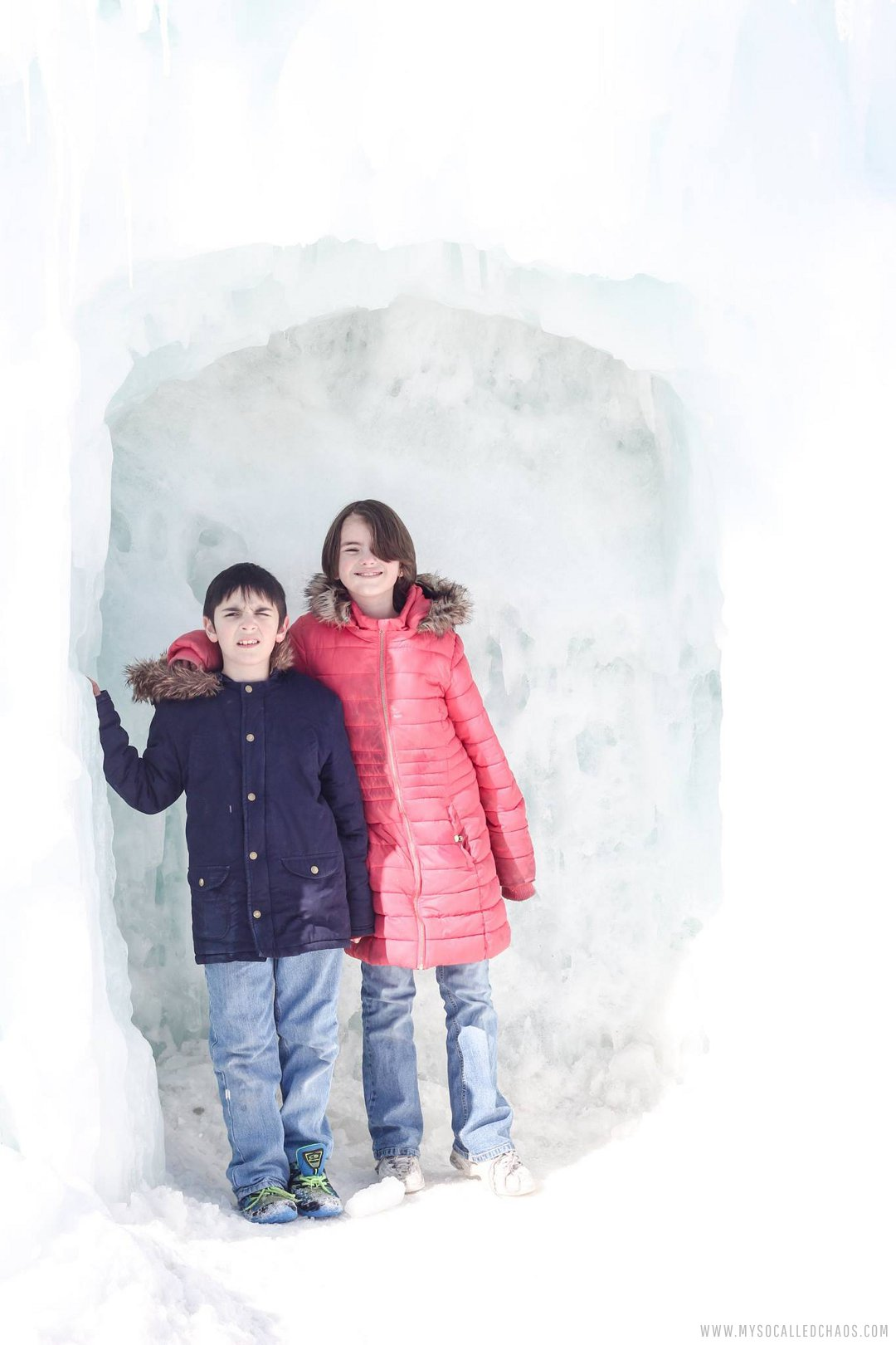 Kaden and Kailee at the Ice Castles in Midway, Utah