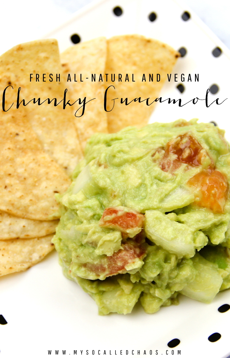 Fresh All-Natural & Vegan Chunky Guacamole