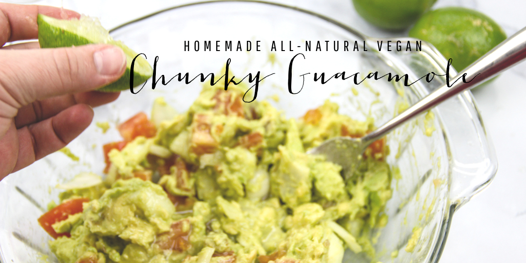 Fresh Natural Vegan Guacamole Recipe