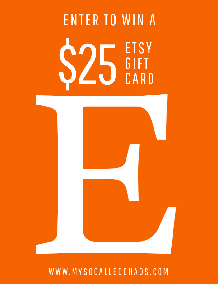 Enter to win a $25 Etsy Gift Card
