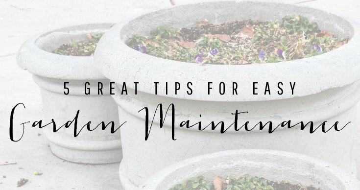 5 Great Tips for Easy Garden Maintenance