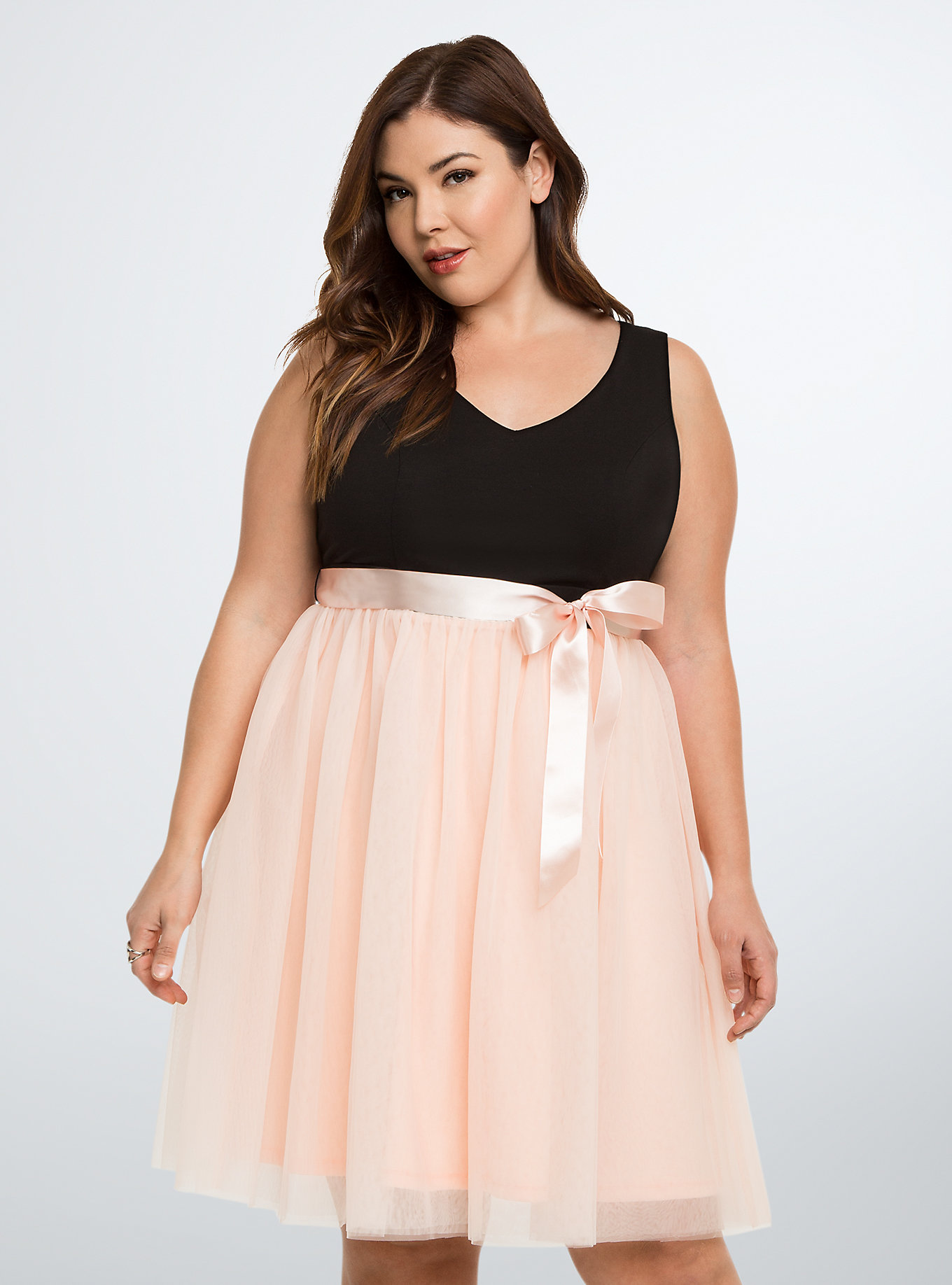 Tulle Skirt Skater Dress