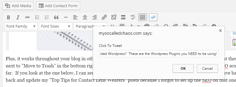 Wordpress Plugins You Should Be Using | Click to Tweet