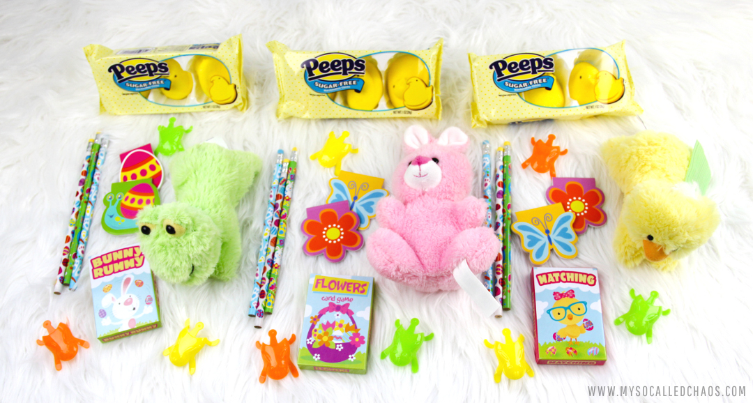 Supplies for DIY Easy Sugar Free Easter Goodie Bags with PEEPS®