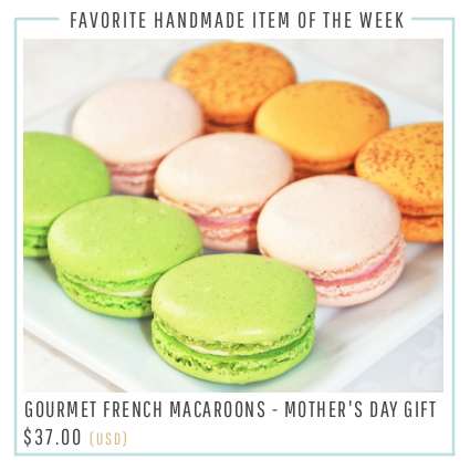 Gourmet French Macarons on Etsy