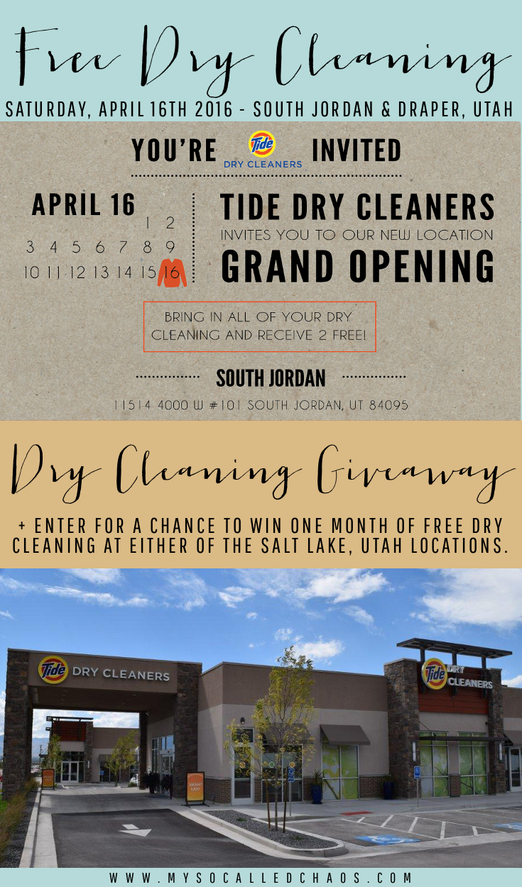 Tide Dry Cleaners Grand Opening in South Jordan Utah + a Dry Cleaning Giveaway