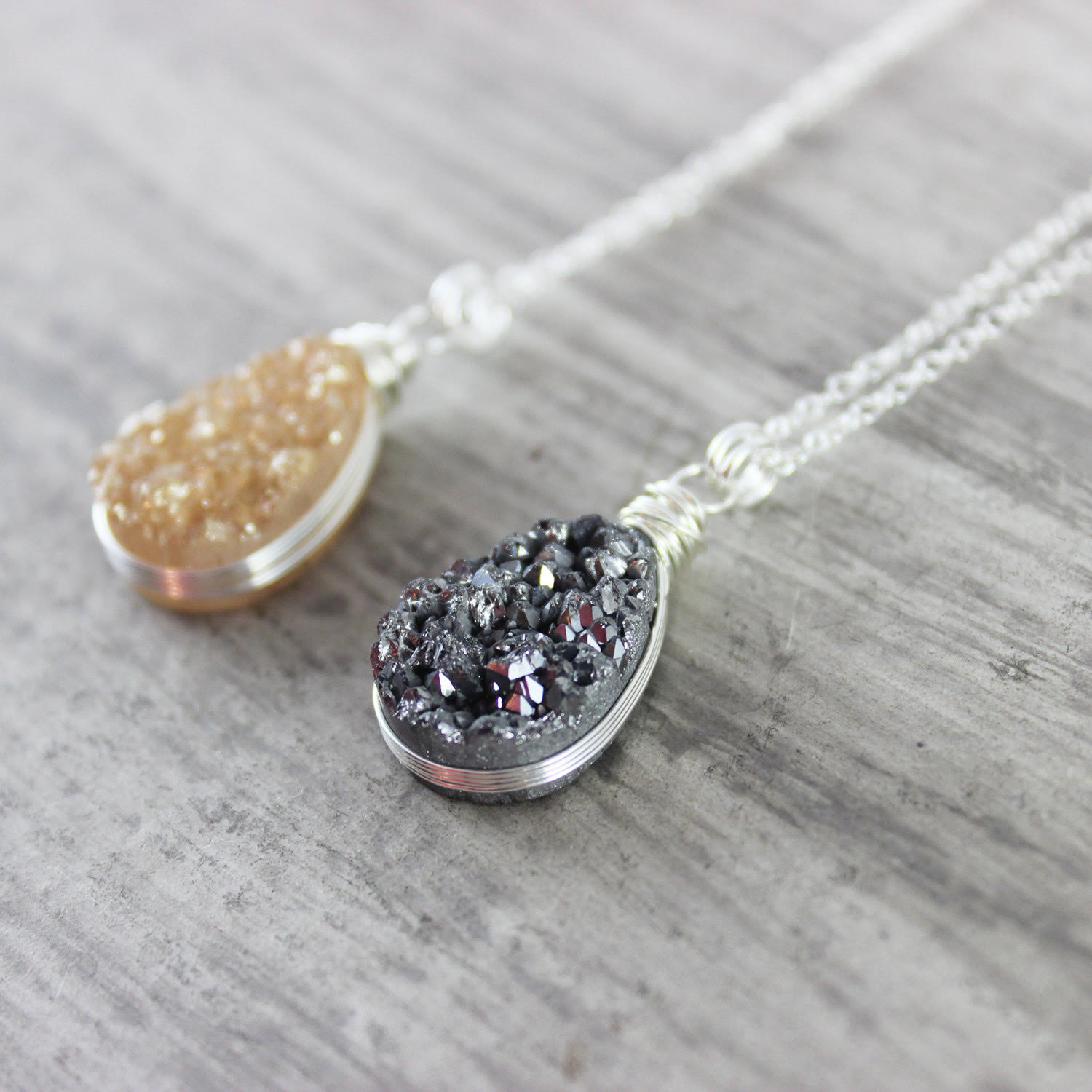 Meet Tara of Starletta Designs + Enter to Win a Sterling Silver Druzy Teardrop Necklace