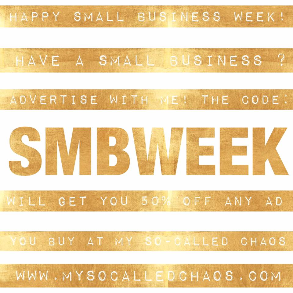 Take 50% off any advertising at My So-Called Chaos with code SMBWEEK at checkout!