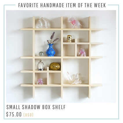 Small Shadow Box Shelf on Etsy