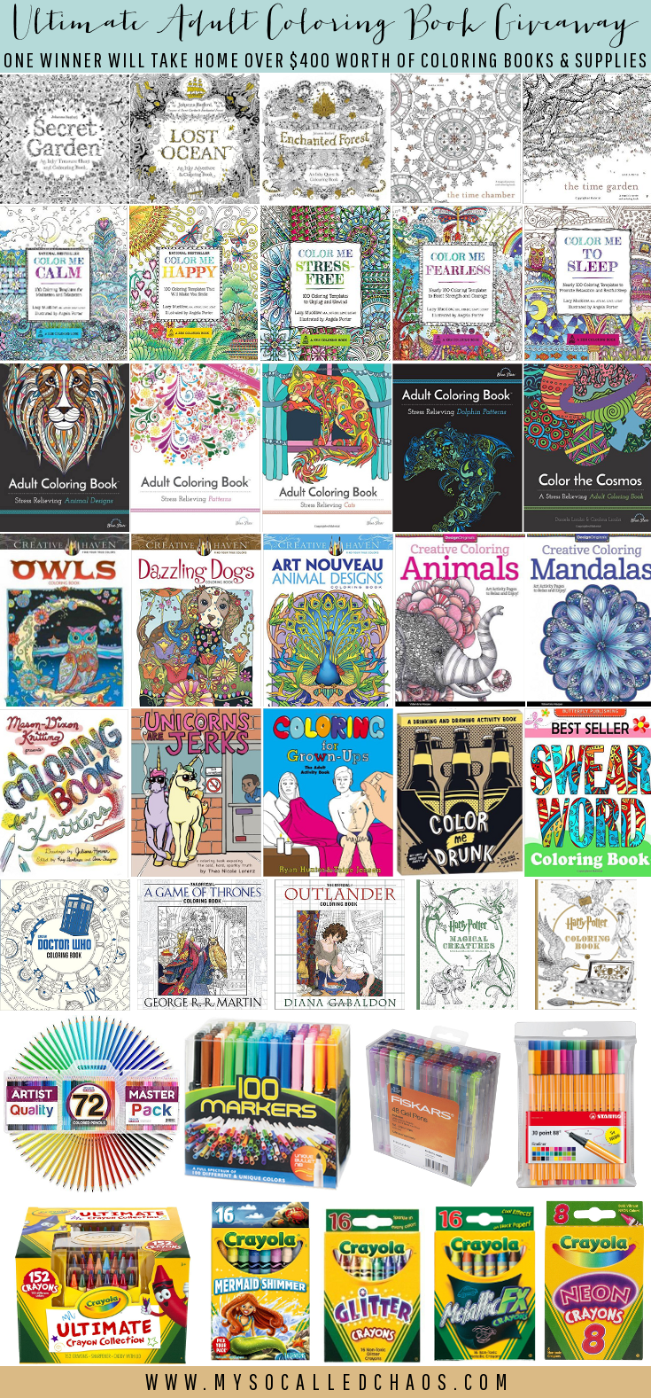 Ultimate Adult Coloring Book Giveaway - Big May Giveaway 2016