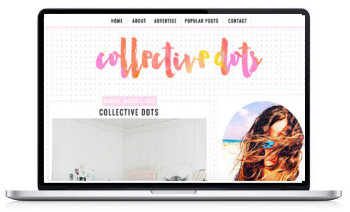 Collective Dots Blogger Template by Social and Chic