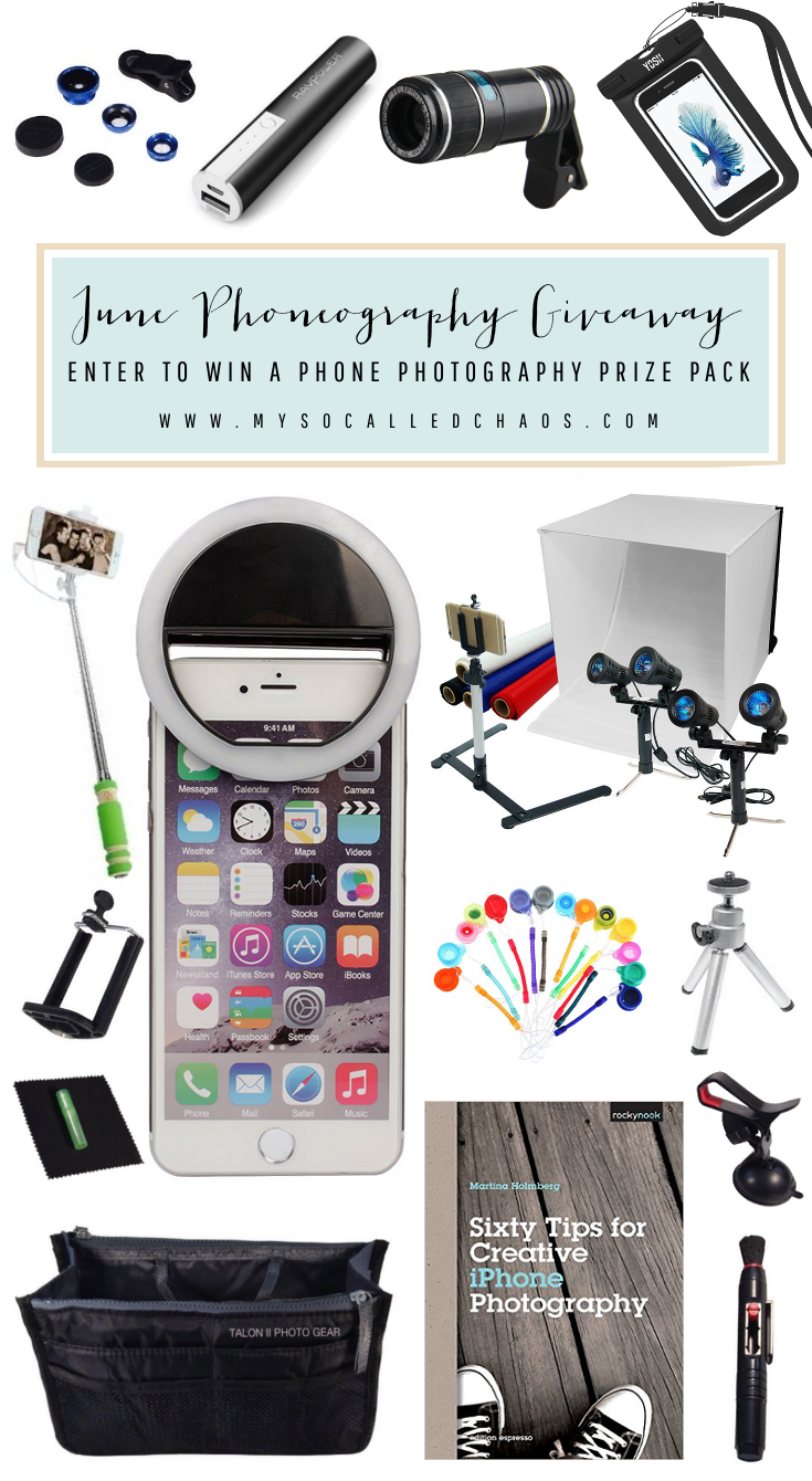 June Phoneography Giveaway: Win a Phone Photography Prize Pack
