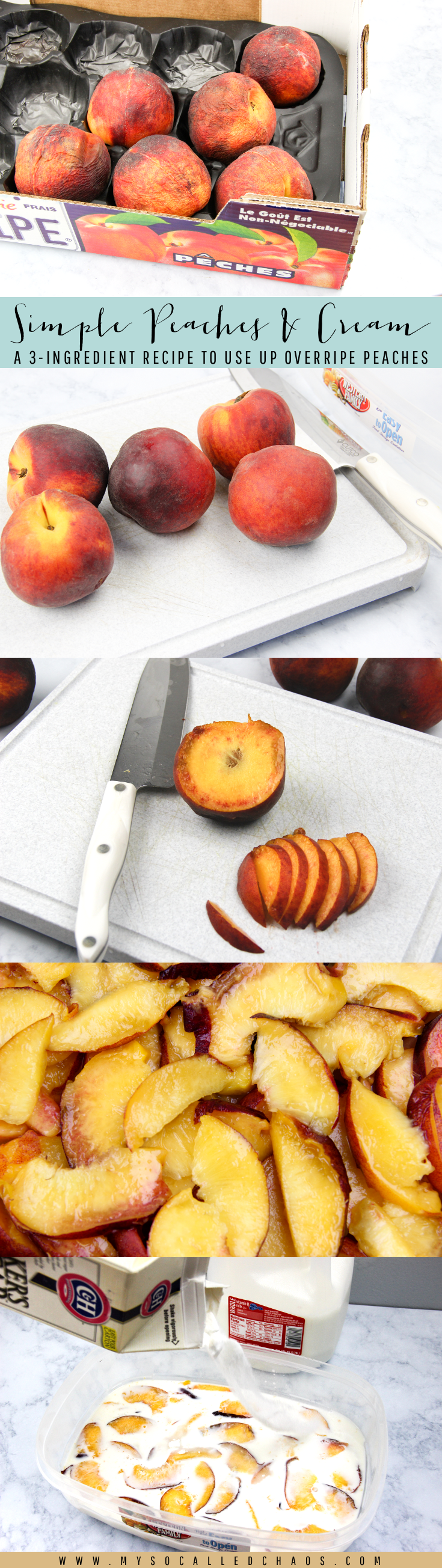Simple Peaches & Cream Recipe to Use Up Overripe Peaches
