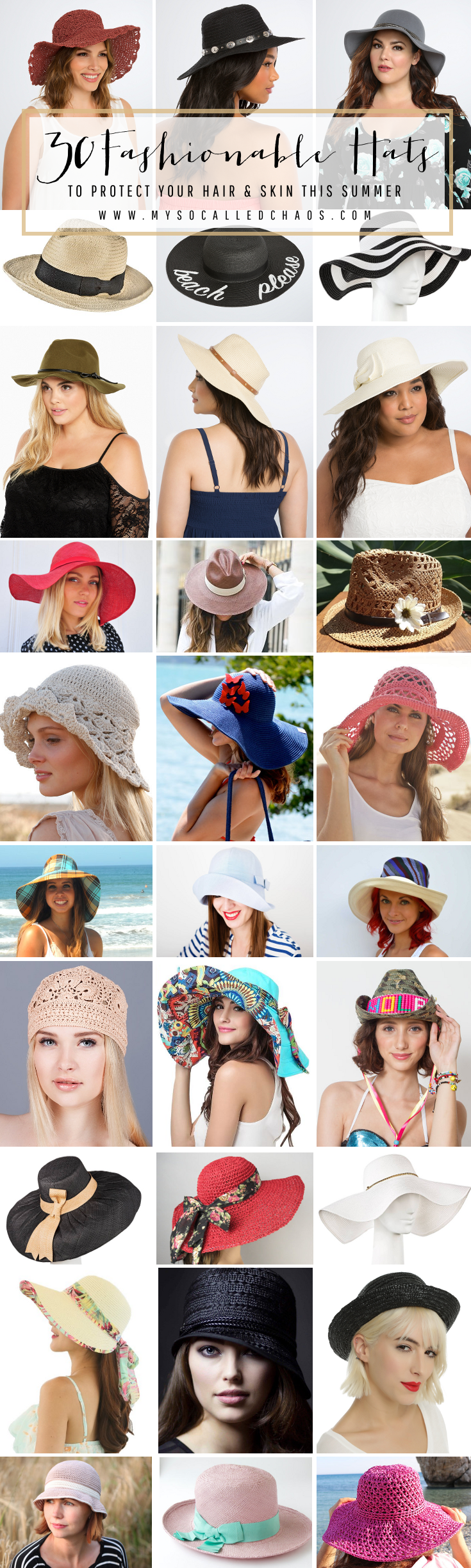 30 Fashionable Summer Hats to Protect Your Hair & Skin This Summer