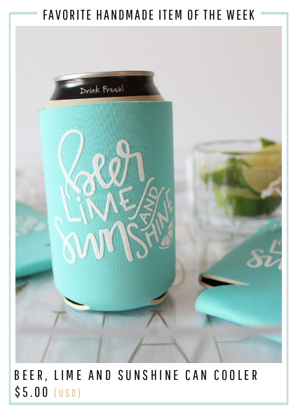 Beer, Lime and Sunshine Can Cooler