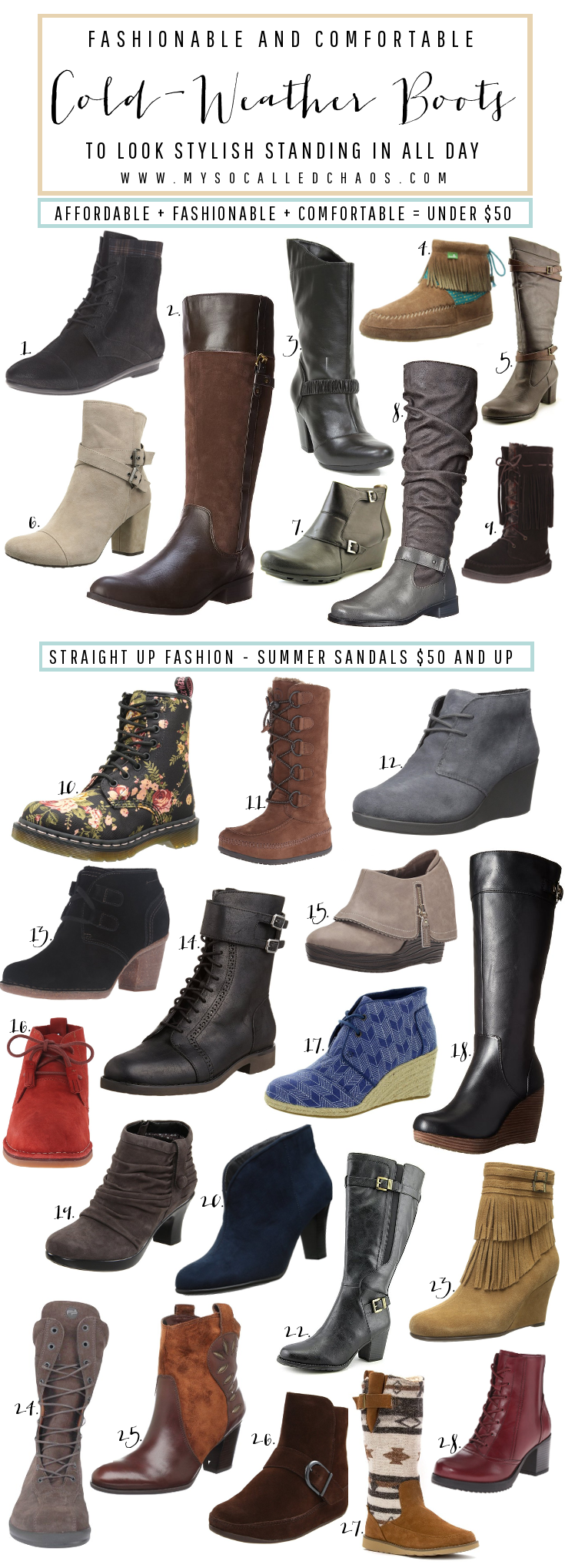 The Best Boots for Fashionable and Comfortable Shoes - If you have to stand all day for work, or walk a lot, check these out!
