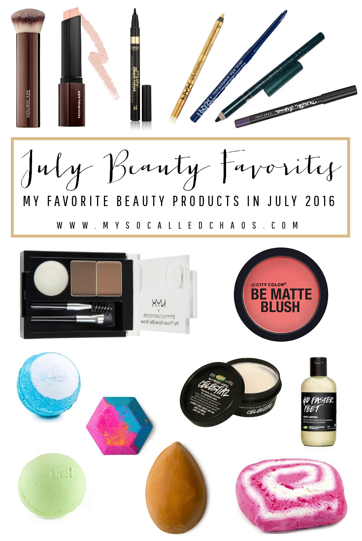July Favorites in Beauty
