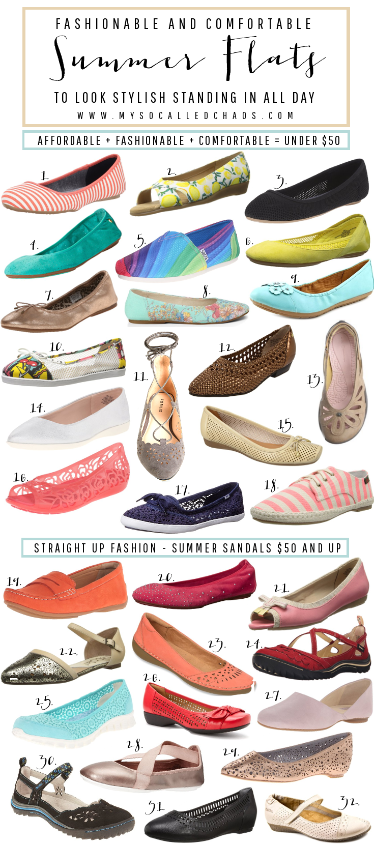 Fashionable and Comfortable Summer Flats You Can Stand In All Day