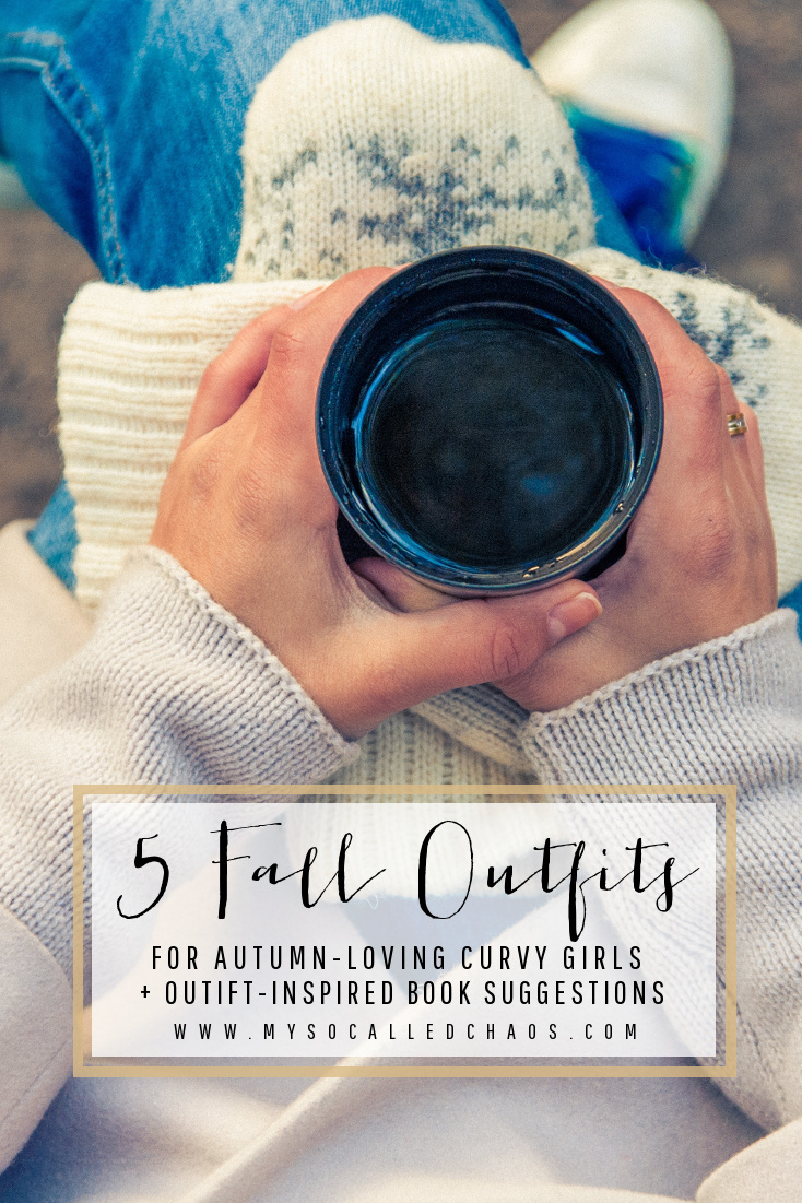5 Fall Outfits for Autumn Loving Curvy Girls + Accompanying Fall Book Suggestions! Dress cute and read well this Fall!