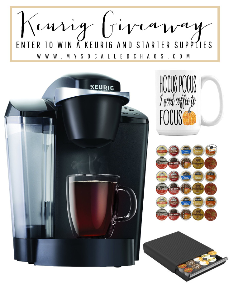 Enter the September Keurig Giveaway at My So-Called Chaos!