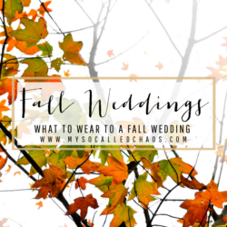 How to Dress for a Fall Wedding
