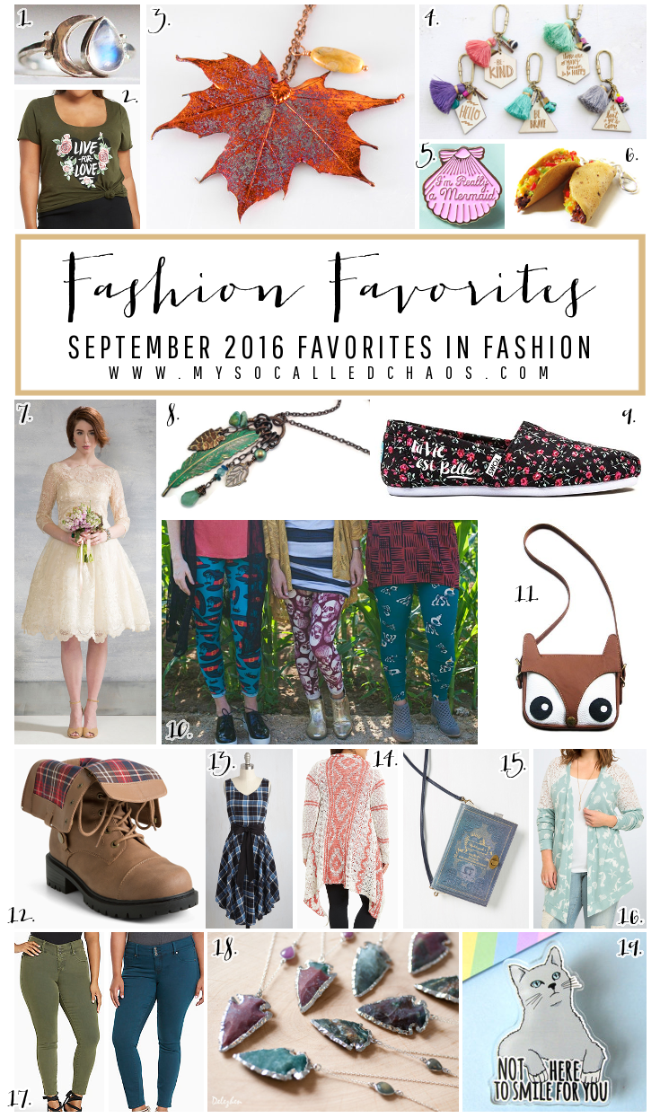 My September Favorites in Fashion - SO much cute stuff!