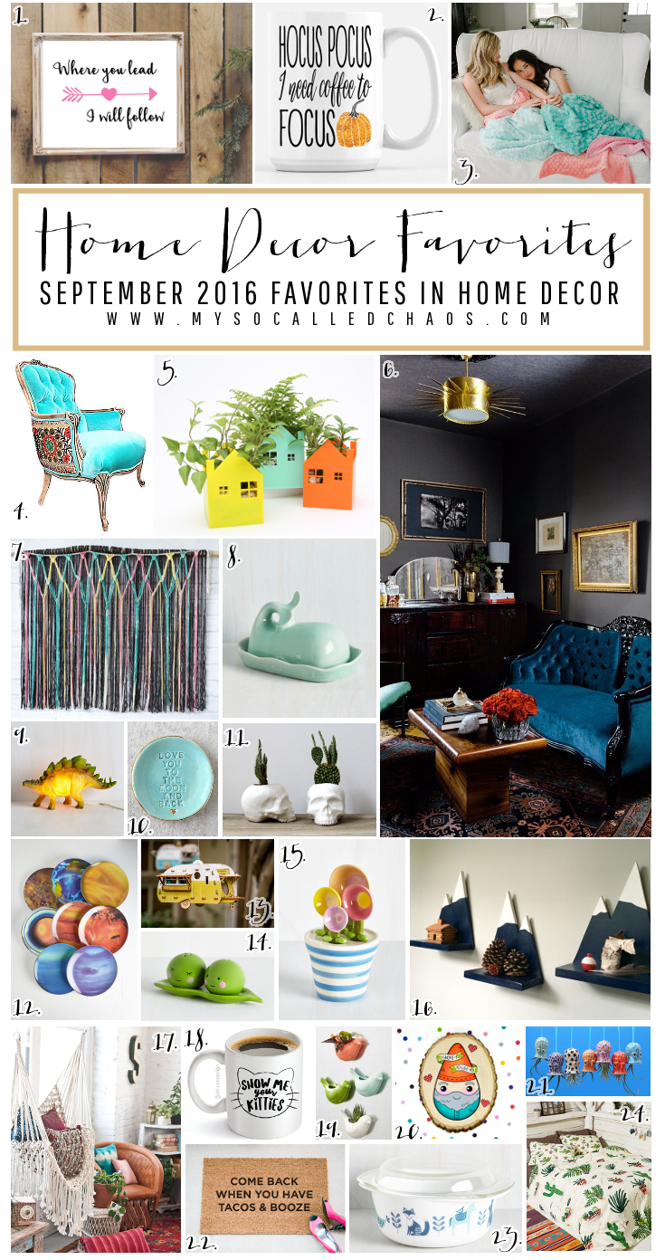 September Favorites in Home & Garden