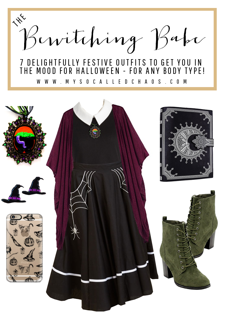 7 Delightfully Festive Halloween Outfits for Any Body Type: The Bewitching Babe (Featuring fashion by ModCloth, Ginger Snap Clay, Ear2There, Beston, and more!)