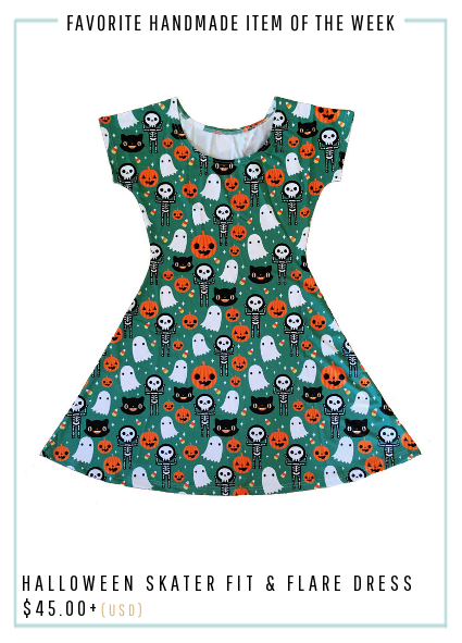 Halloween Skater Fit and Flare Dress