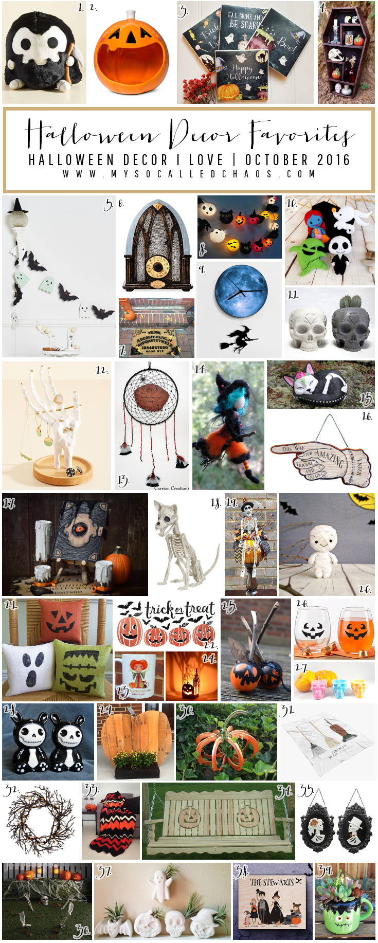 October Favorites: Halloween Decor