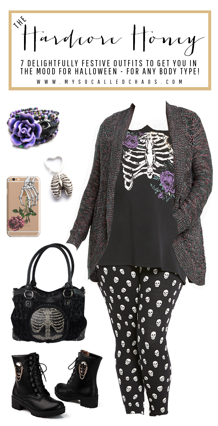 7 Delightfully Festive Halloween Outfits for Any Body Type: The Hardcore Honey (Featuring pieces by Torrid, Sweetie2Sweetie, Bella Aniela, Banned, and more)