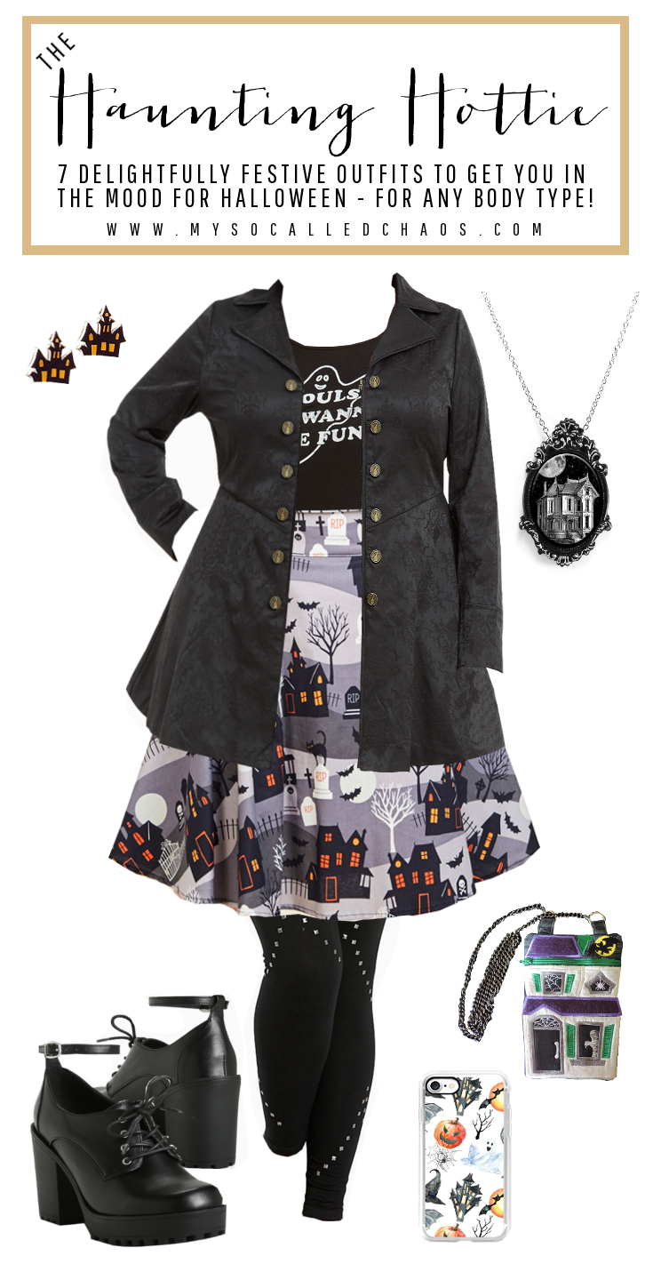 7 Delightfully Festive Halloween Outfits for Any Body Type: The Haunting Hottie (Featuring pieces by ModCloth, Torrid, Project Pinup, Outrageous Embroidery, and more!)