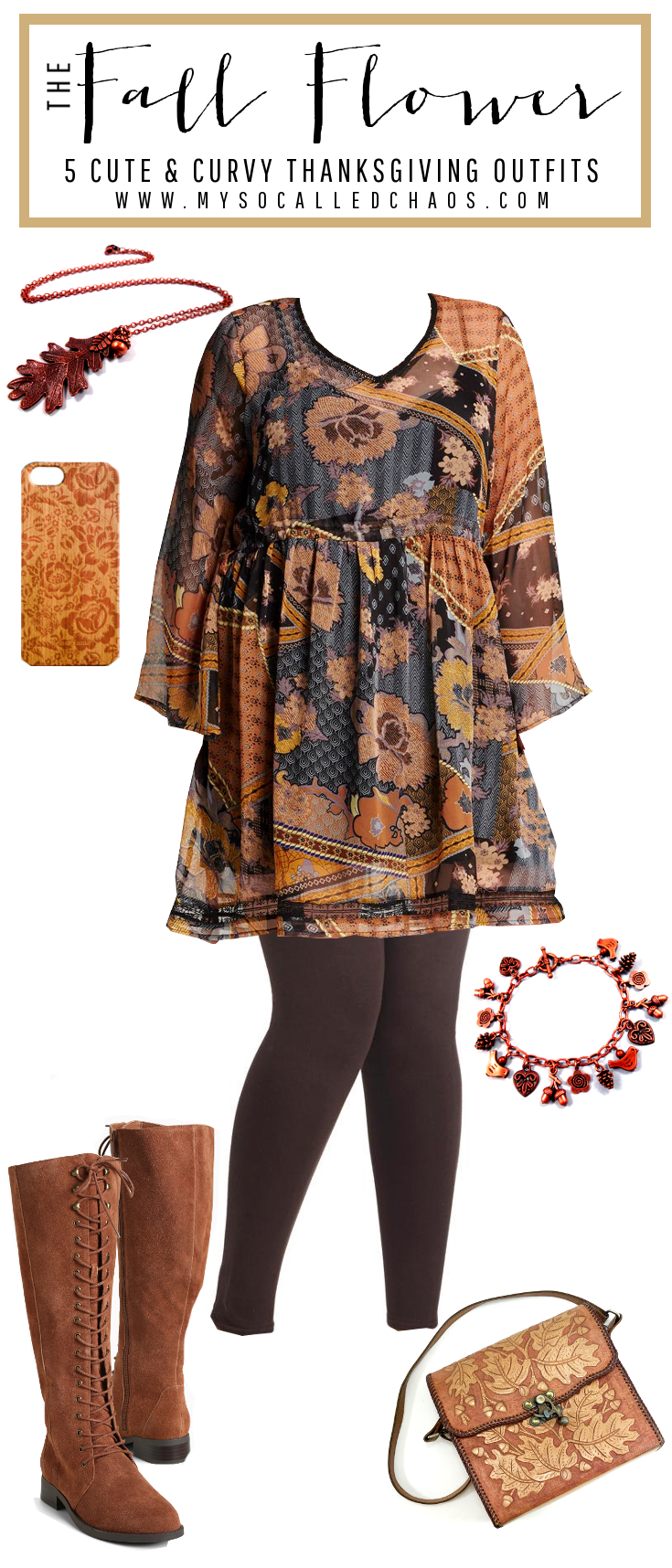 The Fall Flower: 5 Cute & Curvy Thanksgiving Outfits - Be Styling at Dinner!