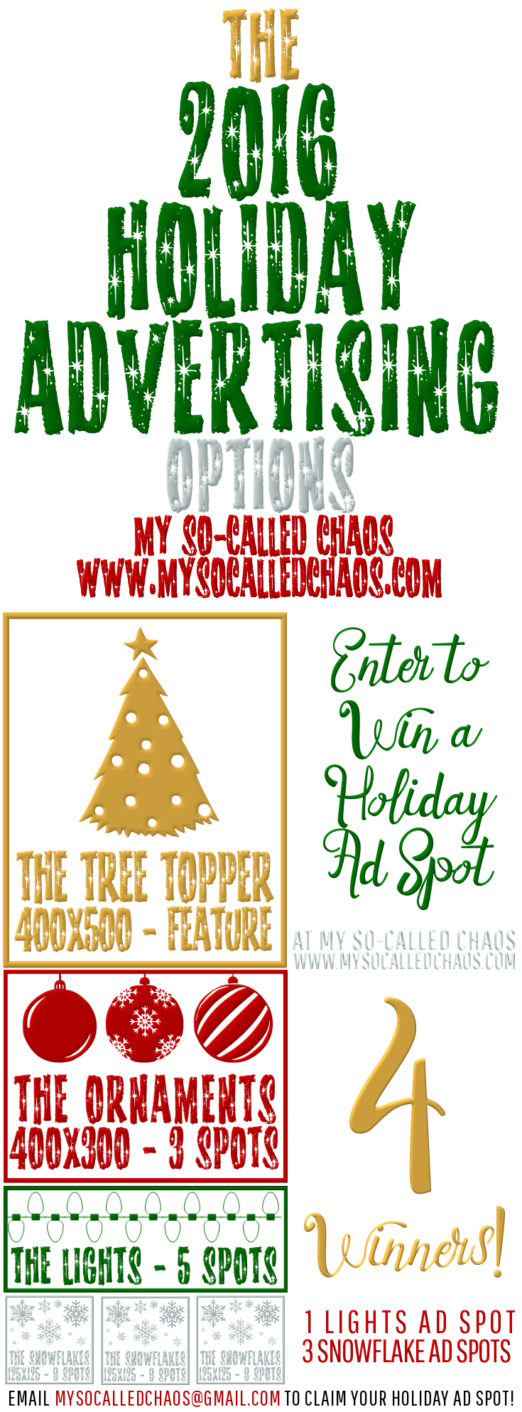 Enter to win Holiday Advertising for your blog/shop/small business/etc. at My So-Called Chaos!