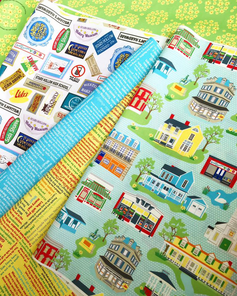 Stars Hollow Fabric, 7 Fat Quarters-- Gilmore Girls Inspired