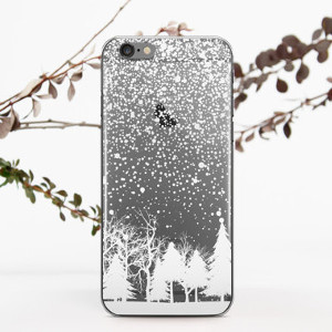 Clear Phone Case: Fir-Trees from 696 Designers