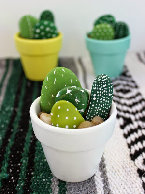 Hand Painted Mini Cactus