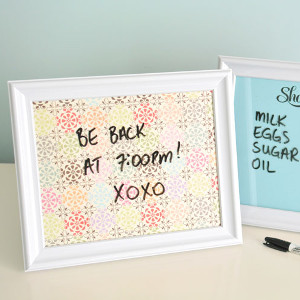 5 Minute DIY Whiteboards