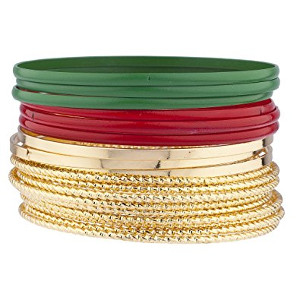Lux Accessories Christmas Bangles